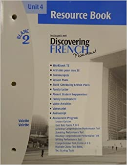 Book McDougal Littell Discovering French Nouveau: Resource Book Unit 4 Level 2