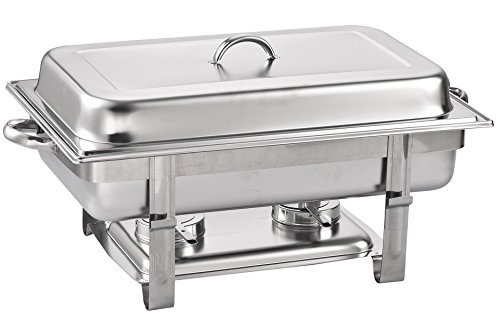 Stainless Chafer - Cook N Home Chafer, Full Size Chafing Dish, 8 quart, Stainless Steel