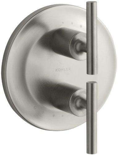 KOHLER K-T14489-4-BN Purist Stacked Valve Trim, Vibrant Brushed Nickel