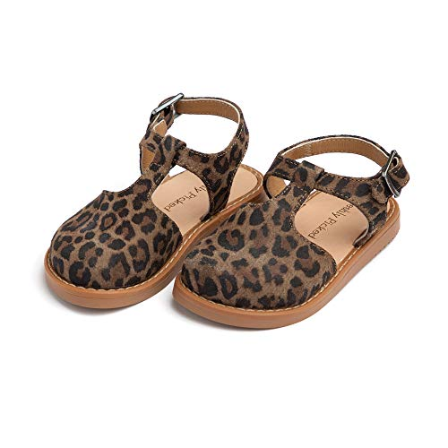 Freshly Picked - Newport Clog - Toddler Girl Leather Sandals - Size 5 Leopard Print