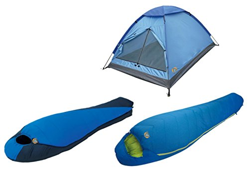 High Peak USA Alpinizmo Extreme Pak 0F & Summit 20F Sleeping Bags + 3 Tent Combo Set, Blue, One Size by Alpinizmo