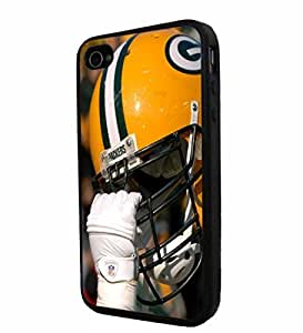 NFL Green Bay Packers Helmet, Cool iphone 6 / Smartphone Case Cover Collector iphone TPU Rubber Case Black