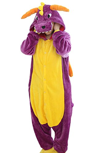 RubySports Unisex Animal Cosplay Costume Onesie Hoodie Pajamas Adult Playsuit Dragon XL -