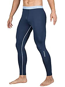 DRSKIN Compression Cool Dry Sports Tights Pants Baselayer Running Leggings Yoga Rashguard Men (Simple N02, M)