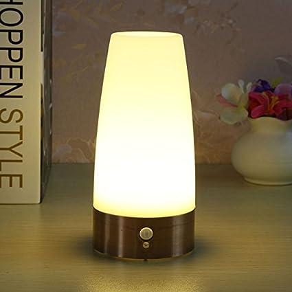 ZHENWOFC Sensor de Movimiento inalámbrico de la lámpara de la Cama de la Mesa de la ...