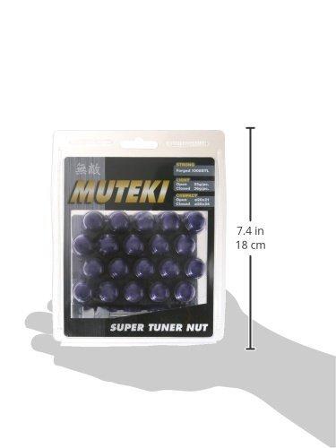Muteki 41886L Purple 12mm x 1.5mm Closed End Spline Drive Lug Nut Set with Key, (Set of 20) by MUTEKI (Image #2)