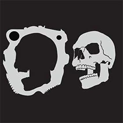 amazon com custom skull stencil 4 skull center airbrush stencil