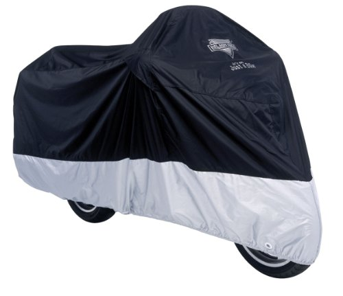 Nelson-Rigg Deluxe All Season Motorcycle Cover Black/Silver Medium M ()