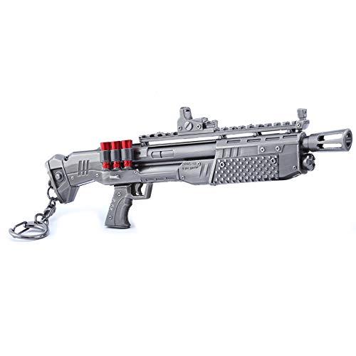 Games Collection 1/6 Metal Heavy Shotgun Model Action Figure Keychain Gift for Children