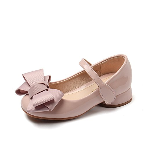 Chiximaxu Maxu Girl's Sandals Mary Jane Shoes with Bowknot Pink,Little Kid Size 13]()
