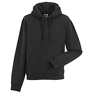 Russell Mens Authentic Hooded Sweatshirt / Hoodie (M) (Black)