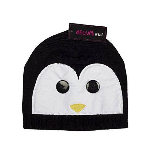 Penguin Hat (Delia's Girl Black and White Penguin Beanie Hat for Girls)
