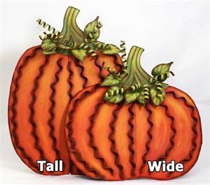 - The Round Top Collection - Pumpkin Pair Lg. - Assorted 2 - Metal
