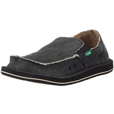 Sanuk Men's Vagabond Tripper Slip-on Loafer (8 D(M) US / 41 EUR, Charcoal)
