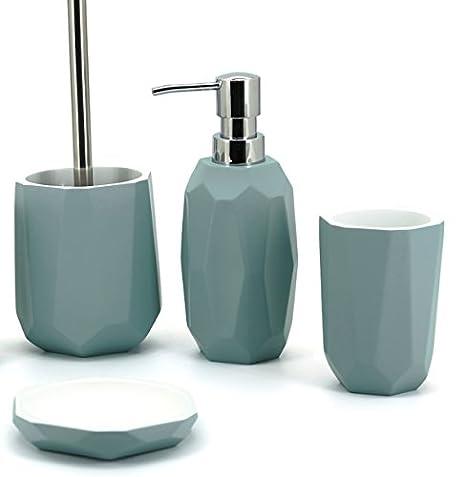 Meubletmoi Badezimmer-Set SWAP – Grau Blau – Design Zen ...