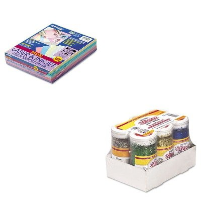 KITPAC101058PAC91370 - Value Kit - Pacon Spectra Glitter (PAC91370) and Pacon Array Colored Bond Paper (PAC101058)