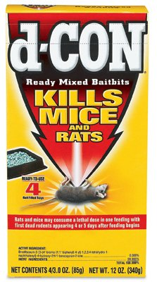 D-Con Ready Mix Bait Bits For Mice Brodifacoum Mice - 3.0 oz. - 4ct by Reckitt