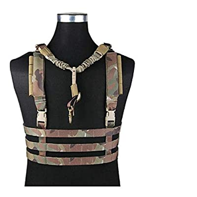 Kbj-accessory System Low Profile Chest Rig Vest Military Army Hunting Airsoft Vest - MC