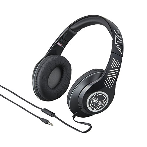 Black Panther Over the Ear Headphones with Built in Microphone