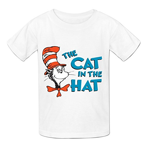 Kidsloveit Kids Boys Girls Dr Seuss The Cat IN The Hat Short Sleeve T-Shirt
