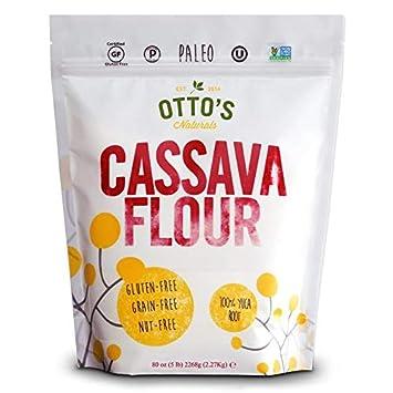 Otto's Naturals Cassava Flour (5 Lb  Bag) Grain-Free, Gluten-Free Baking  Flour - Made From 100 %