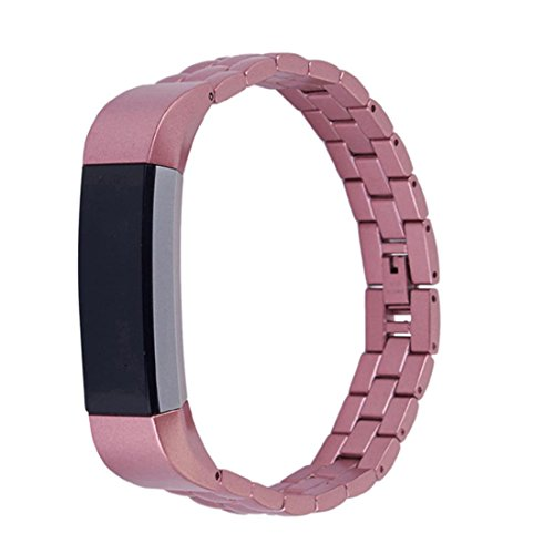 Fitbit Alta HR and Alta Bands Metal, HANYI Luxury Genuine Stainless Steel Replacement Watch Band Wrist Strap For Fitbit Alta Tracker - Cloe Glasses