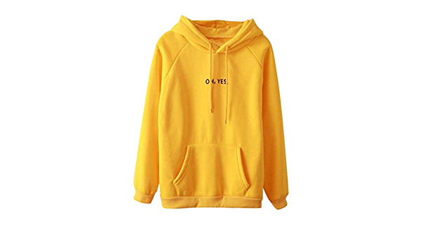 Betrothales Amarillo Suéter Camisas Señoras con El Cordón ...