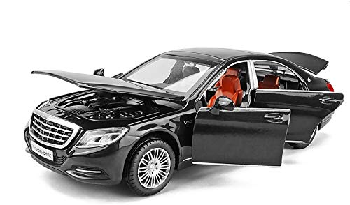 LENO Maybach S600 Diecast Metal Car Models | High Simulation | Scale 1:32 |Colour Black with Box