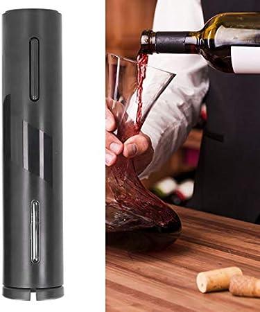 【Venta del día de la madre】Abridor de vino, sacacorchos de luz LED automático, USB recargable negro duradero para boca casera ≤ 35 mm accesorio de cocina restaurante