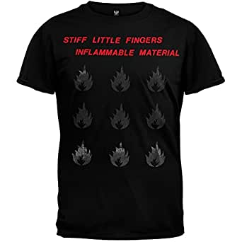 Stiff Little Fingers - Mens Inflammable Material T-shirt Small Black