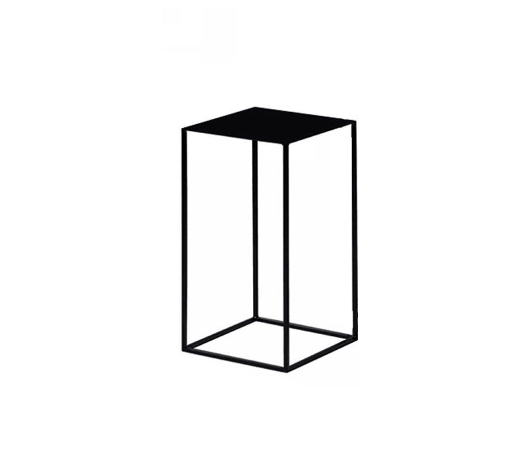 CSQ テーブル、コーヒーテーブル、サイドテーブル、ソファサイドテーブルベッドサイドテーブルライティングデスクドレッシングテーブルダイニングテーブルアイロン材料サイドテーブル30-74CM コーヒーテーブル (色 : ブラック, サイズ さいず : C) B07DX2FH23ブラック C