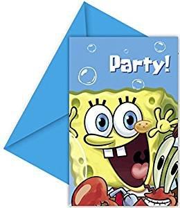 Amscan Sponge Bob Party Invite
