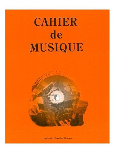 Amazon Com Cahier De Musique 12 Portees 27x21 Livre
