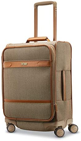 Hartmann Herringbone Deluxe Domestic Carry On Expandable Spinner Terracotta Herringbone
