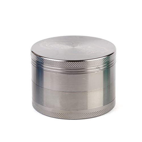 CEREMONY HERB GRINDER: High Quality Premium Craftsmanship! Large Silver 2.5