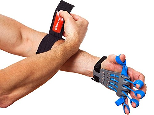 Clinically Fit Elbow Pain Relief Therapy Kit, Hand Strengthener Reverse Grip Training Device and Adjustable Elbow Brace Compression Strap for Tendonitis by Clinically Fit