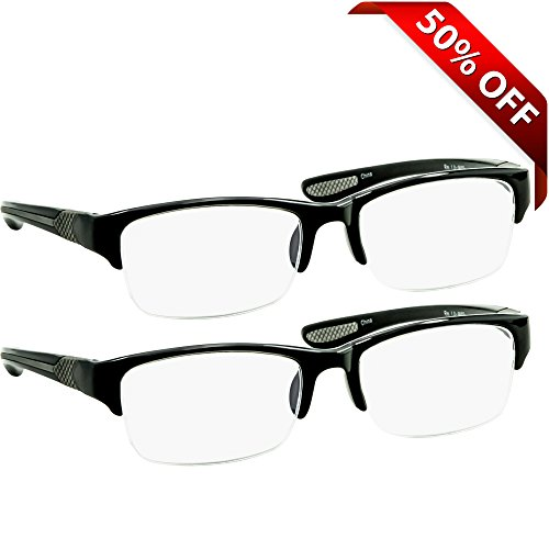 Black Computer Reading Glasses 1.75 _ Protect Your Eyes Against Eye Strain, Fatigue and Dry Eyes from Digital Gear with Anti Blue Light, Anti UV, Anti Glare, and are Anti - Vsp Glasses Store