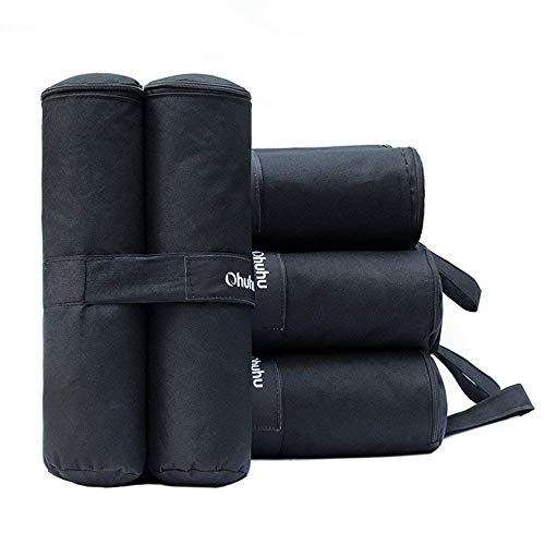 Ohuhu Canopy Weight Bags for Pop up Canopy Tent, Sand Bags for Instant Outdoor Sun Shelter Canopy Legs, 4-Pack (Bags Only, Sand Not Included)