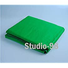 Studio-98 6.2 ft W x 10 ft L Heavy Weight Chroma Key Green Backdrop Muslin Background for Photography Video