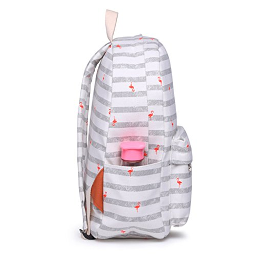 Women Printed Backpack Yellow Canvas School Flower Girls Yellow Dabixx Students Backpack RwBS6dRTq