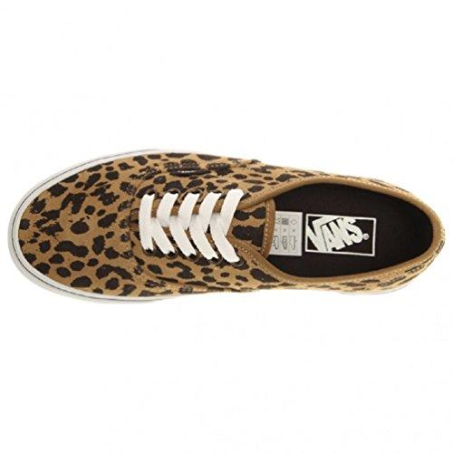 Vans Scarpe Da Skateboard Autentiche Da Donna (scamosciato Leopardato) Kaki Scuro