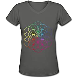 A Head Full Of Dreams Coldplay Tour 2016 V Neck T Shirt For Women DeepHeather L