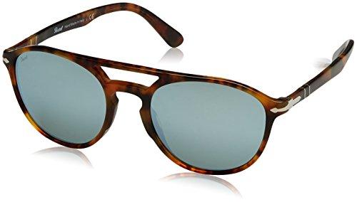 (Persol Mens Sunglasses Tortoise/Silver Acetate - Non-Polarized - 52mm)