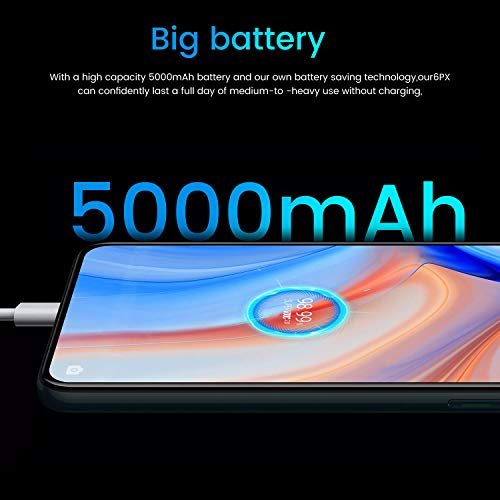 Mobile Phone Android 5.1,6.6''Waterdrop Full Screen 2500mAh Battery 1GB + 8GB R4Pro+ Smartphone with Dual SIM Cards Slots Dual Rear Camera Face Recognition 5.0 WiFi Blue