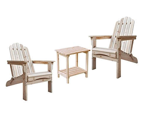 Shine Marina Adirondack Chairs With Rectangular Side Table Bundle in ()