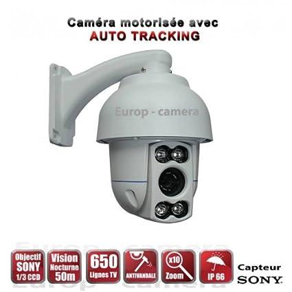 Sunluxy Mall-Cámara de vídeo vigilancia motorizada AUTO TRACKING PTZ IR 360° 50 m