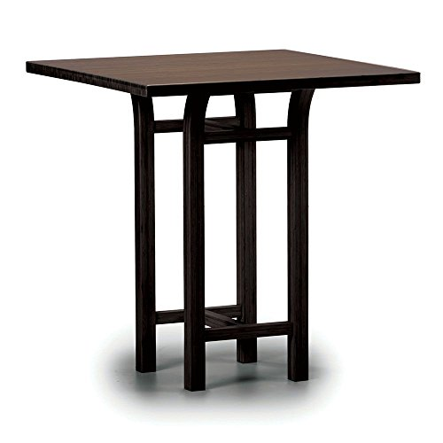 (Tulip Solid Bamboo Counter Height Table Black Walnut Solid Bamboo Dimensions: 36