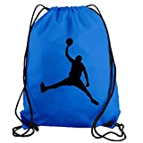 STICKERSLUG Light Blue Jordan Dunk Basketball Player Drawstring Gym Bag nylon workout bag