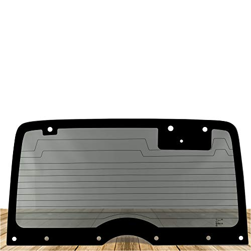 New Jeep Parts - Make Auto Parts Manufacturing - New Rear/Back, Heated, Gray Tinted Glass w/10 Holes For Jeep Wrangler YJ 1987-1995 - Holander - 275-05403A