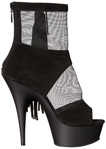 Pleaser DELIGHT-1014 Blk Suede-Mesh/Blk Matte Size UK 4 EU 37